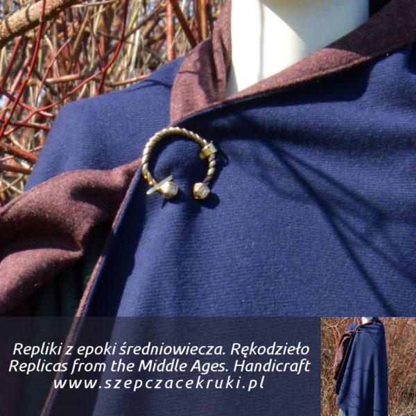 Warm wool coat. Double layer of fabric